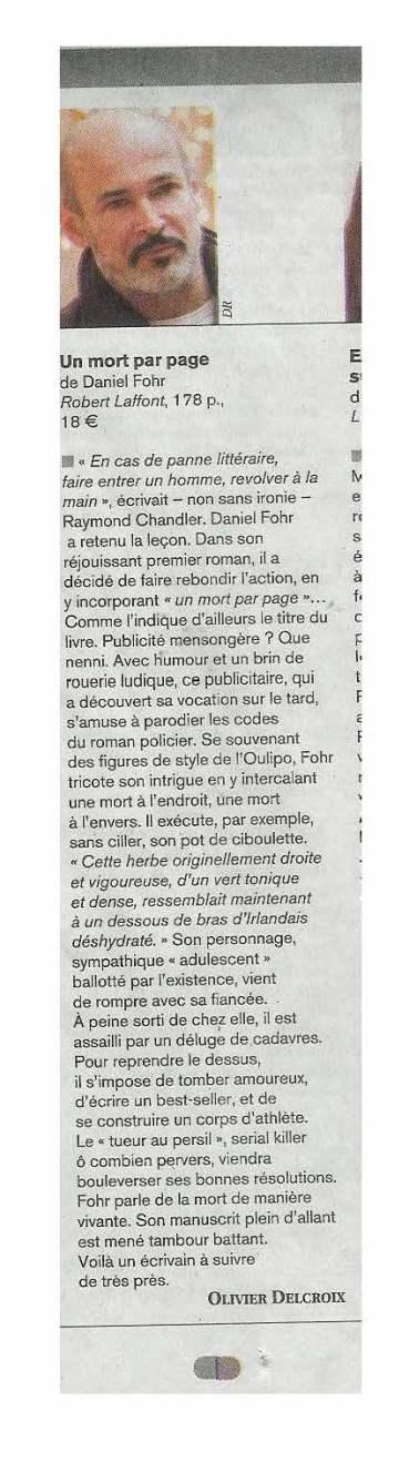 """Figaro littéraire """"A la Une"""". 08-02-2007"""
