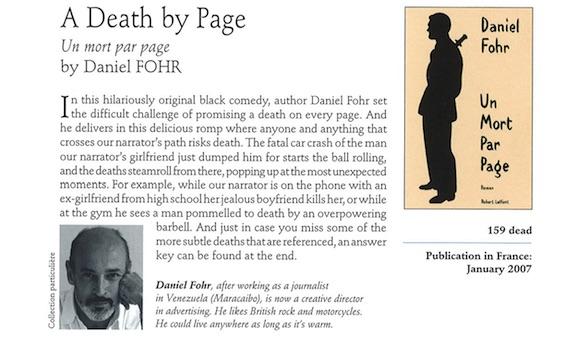 Un mort par page. roman